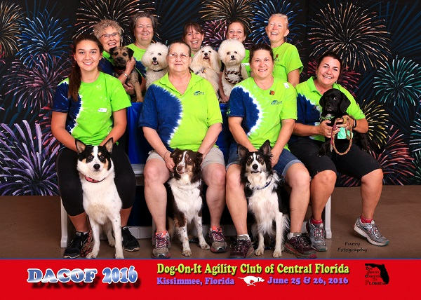 Dog-On-It Agility's 2016 DACOF Team One